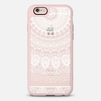 Latest Fashion Tech iPhone Case by Casetify | Boho White Lace Design by Monika Strigel (iPhone 6, 6s, 6 Plus, 6s Plus, 7)