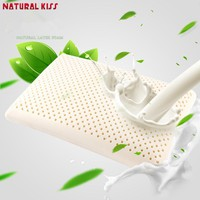 Natural Latex Bedding Pillows Neck Support Memory Latex Head Cervical Orthopedic Travel Sleeping Bedroom Pillow 60X40X10cm