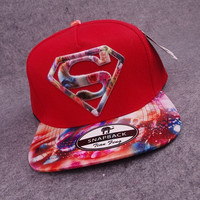 2015 new superman baseball caps hip-hop style hats red (Color: Red) = 1946443204