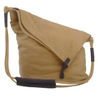 WealFeel Basic Canvas Messenger Bag