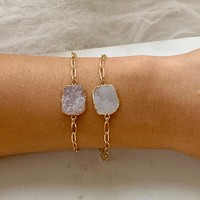 Gold Druzy Bracelet Collection