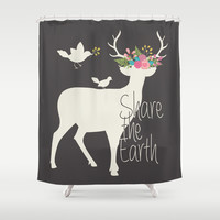 Share the Earth Shower Curtain by Bohemian Gypsy Jane