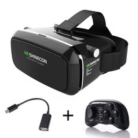 VR Shinecon Virtual Reality Smartphone Immersive 3D Glasses Headset Google Cardboard Head Mount Video for 3.5'-6.0'  Smartphone
