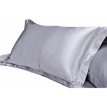 1pc  Pure Emulation  Satin Pillowcase Sham to Prevent Curly Hair Damage and Dryness