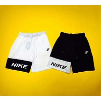 NIKE 2018 summer tide brand spoof yin and yang stitching lovers five pants F-AG-CLWM
