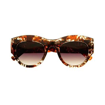 Cute Floral Print Designer Fashion Cat Eye Sunglasses Shades C1610