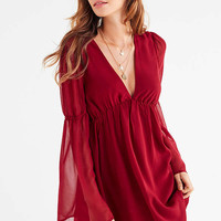 Lucca Couture Empire Waist Bell-Sleeve Dress | Urban Outfitters