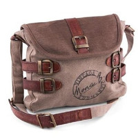 Canvas BUCKLED UP crossbody *3505*