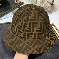 Fendi New fashion more letter canvas cap fisherman hat