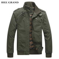 Men's Hee Grand Fashion Casual Cotton Stand Collar Coat Jacket