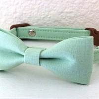 Mint Green Bow Tie Collar for Cats by cheridogdesign on Etsy