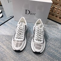 dior men fashion boots fashionable casual leather breathable sneakers running shoes 98