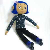 Coraline doll with the outfit with the stars