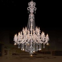 large crystal chandeliers for hotels modern chandelier high ceiling Villa club level chandelier led Elegant Lighting Chandeliers