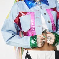 Different Dimension Paneled Jacket