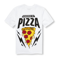 Boys Short Sleeve 'Powered By Pizza' Graphic Tee | The Children's Place