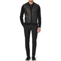 Bottega Veneta - Leather-Panelled Cashmere Cardigan | MR PORTER
