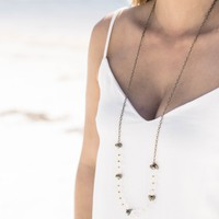 The Curtis Necklace, Clear/Gold   BPD