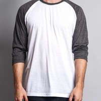 Men's Baseball T-Shirt (White/Charcoal)
