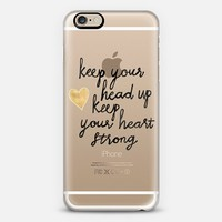 Keep Your Head Up on Clear iPhone 6 case by Tangerine- Tane   Casetify