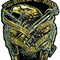 Pry them Off My Cold Dead Fingers Large 2nd Amendment Back Patch