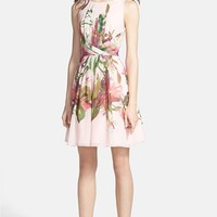 Ted Baker London Print Fit & Flare Dress