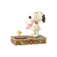 """Snoopy with Woodstock """"Work of Heart"""" Figurine"""