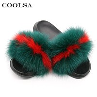 Women's Slippers - Fluffy Faux Fur Slippers