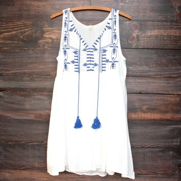 final sale - let's go to cancun sun dress in white