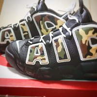 """Nike Air More Uptempo """"Black Camo"""" Sports Running Shoes"""
