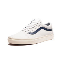 VANS OLD SKOOL MATTE LEATHER - TRUE WHITE/DRESS BLUES | Undefeated