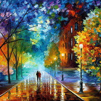 Freshness of Cold - oil painting by Leonid Afremov