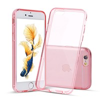 Pink Case for iPhone 6s Plus and 6 Plus Slim Thin TPU Silicone Soft Cover Rubber