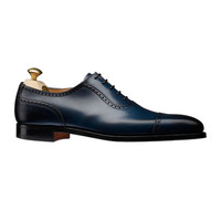 Handmade Mens Formal Shoes, Navy Blue Leather Shoes, Men's Leather Shoes