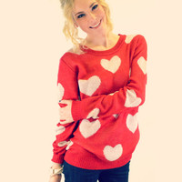 Heart to Heart Red Sweater