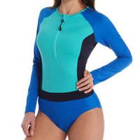 SPANX 2665 Long Sleeve One Piece Swimsuit
