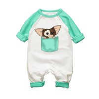 2017 New Arrival Baby Rompers Long Sleeve Autumn Cotton Clothing Gremlins Cartoon Newborn Baby Boy Girls Jumpsuits Clothes
