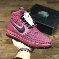 Nike Lunar Force 1 Duckboot Peach red Sport Shoe Size 40-47
