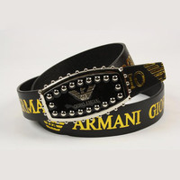 Perfect ARMANI Woman Fashion Smooth Buckle Belt Leather Belt