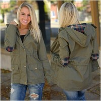 See You Soon Jacket (Olive) - Piace Boutique