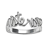 Silver-Plated ''Sisters'' Ring (Brass/Silver)