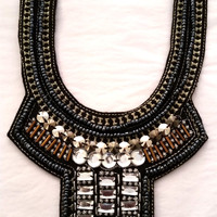 Beaded Bib Statement Necklace
