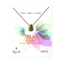 you are a gem pyrite necklace, 18 inch