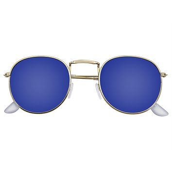 Fashion Round Sunglasses Men Women's Vintage Retro Mirror Glasses