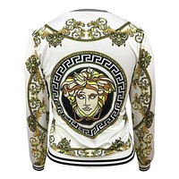 VERSACE women's fashion trend printed sweatshirt jacket F