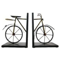 Deco 79 Metal Bookend Pair, 8 by 6""