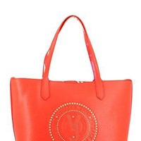 Versace EE1VRBBQB Red Tote Bag W/ detachable storage pouch and shoulder strap for Women