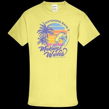 Southern Couture Soft Collection Catching Rays & Making Waves front print T-Shirt