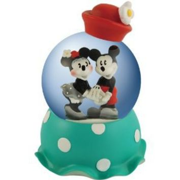 Westland Giftware Disney Vintage Mickey Mouse and Minnie Holding Hands Water Globe, 65mm