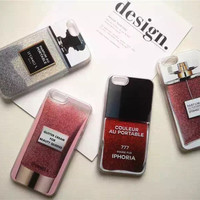 New Luxury Quicksand Glitter IPHORIA Phone Case for iPhone 7 6 4.7''6s plus 5.5 i7 plus perfume bottle Rouge protect back cover